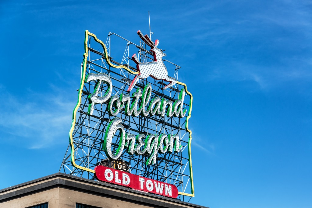 Iconic Portland Oregon Sign