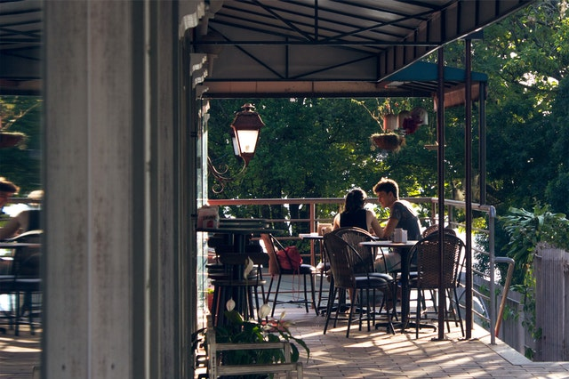 Socially Distanced Outdoor Restaurant Seating